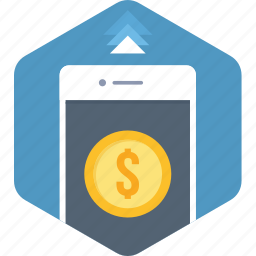 app, bank, mobile, money, payment, smartphone icon