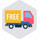 delivery, free delivery, free shipping, logistic, transport, transportation, truck icon