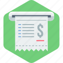 bill, document, file, invoice, page, receipt icon