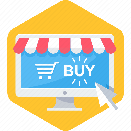 buy, cart, click, ecommerce, online, shop, website icon