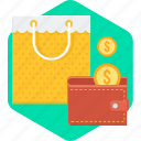 cash, cashback, purse, saving, savings, shopping, wallet icon