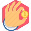 cash, coin, discount, money, offer, pay, payment icon