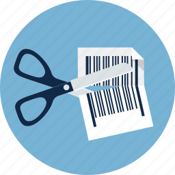 code, coupon, discount, ecommerce, price, sale, scissors icon