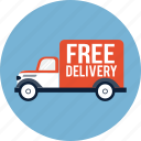 courier, delivery, free, shipping, shop, truck, van icon