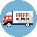 truck, van, courier, lorry, free, delivery, shipping