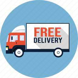courier, delivery, free, lorry, shipping, truck, van icon