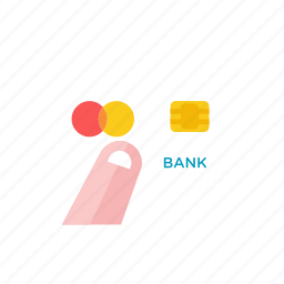 2, card, credit, hand icon