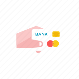 card, credit, hand icon