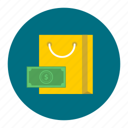 bag, buy, carry, money, retail, shop, shopping icon