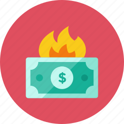 fire, money icon
