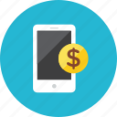 pay, smartphone icon