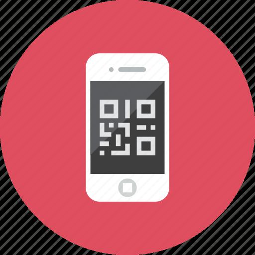 qrcode, smartphone icon