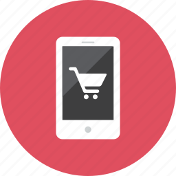 shopping, smartphone icon