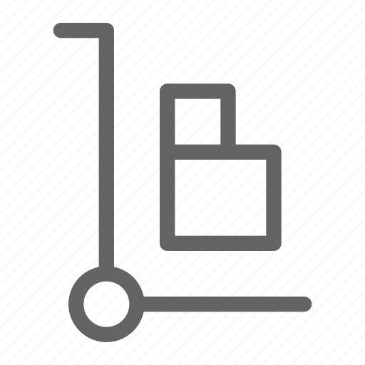 delivery, hand, shipment, truck icon