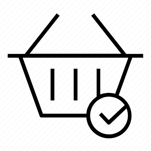 cart, done, shopping icon