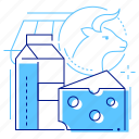 milk, dairy, cheese, products icon