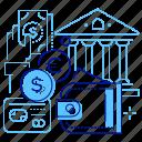 bank, exchange, money, wallet