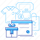 card, certificate, gift, shop icon