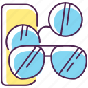 eyewear, glasses, sunglasses, sunglasses icon icon