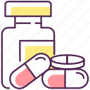 medication icon, medications, pharmacy, pill icon