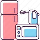 cooking device, electronics, electronics icon, household appliance icon