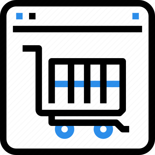 browser, cart, commerce, e, online, shop, shopping icon
