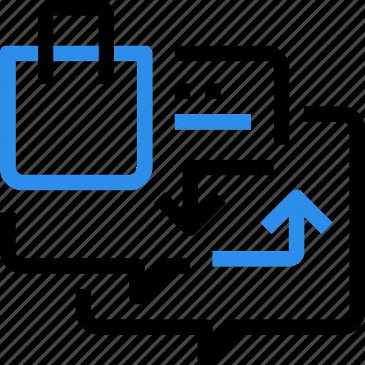 communication, ecommerce, exchange, shop, shopping icon