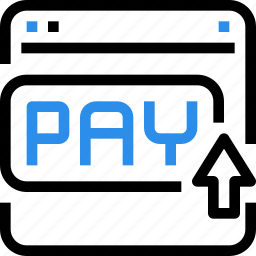 browser, click, ecommerce, pay, payment, shop, shopping icon
