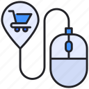 buy, cart, ecommerce, mouse, shopping icon