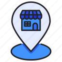 ecommerce, location, map, pin, store icon
