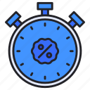 alarm, discount, stopwatch, time, timer icon