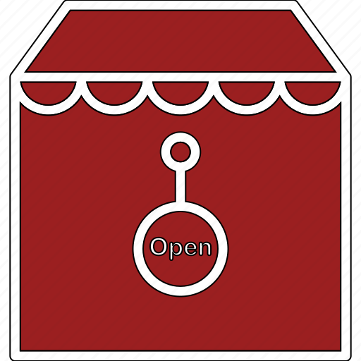 merchant, open, shop, store icon