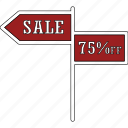 advertisement, arrow, sale, sale sign