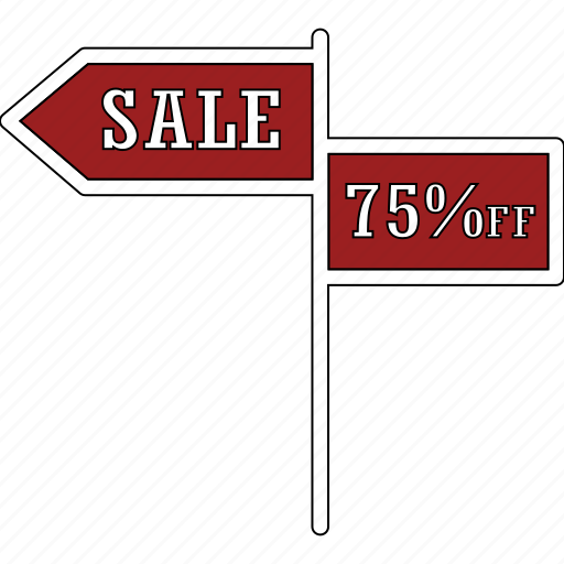 advertisement, arrow, sale, sale sign icon