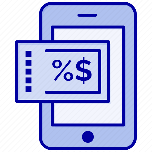 discount, mobile, shopping icon