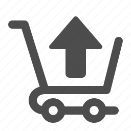 arrow, buy, cart, sell, shopping, shopping cart, up icon