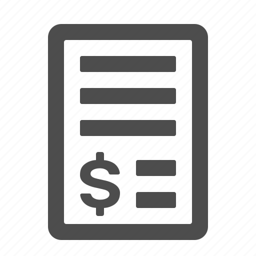 invoice, receipt, shopping icon