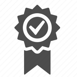 award, badge, medal, ribbon, verified icon