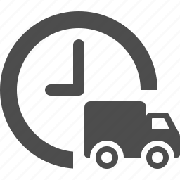 24/7, clock, deadline, delivery, time, truck icon