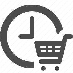 cart, clock, deadline, limited, shopping, shopping cart icon