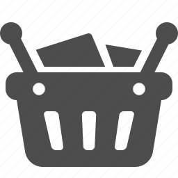 basket, buying, full, shopping, shopping basket icon