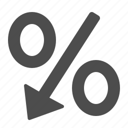 discount, percentage, percentage sign, sign icon