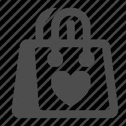 bag, favorite, heart, love, shopping icon
