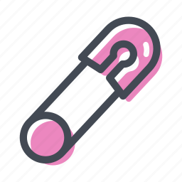 clip, connect, dressmaker, metal, pin, safety pin, tailor icon