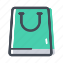 bag, mall, paper bag, purse, shop, shopping, shopping bag icon