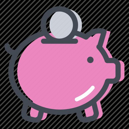 bonus, cash, currency, guardar, money, piggy bank, sale, save icon