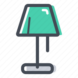 floor lamp, furniture, lamp, light, shop icon