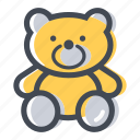 bear, cuddle, shop, teddy bear, toy icon