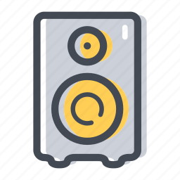 audio, music, noise, shop, speaker, subwoofer, woofer icon