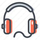 audio, headphones, headset, listen, music, shop icon
